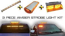 LED Magnetic Amber Hide A Way Emergency Hazard Warning Strobe Light System Kit