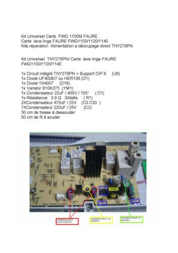 Kit Universel Carte  FWG 1100M   FWG1100//1120//1140 TNY276PN