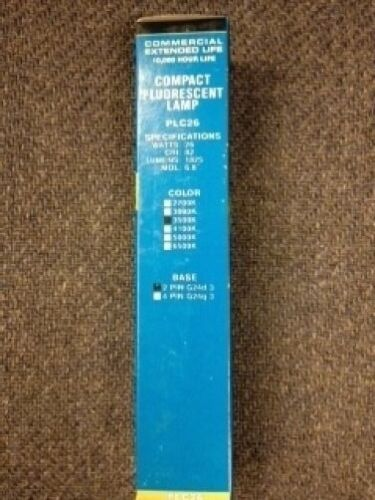 50 PCS CXL PLC26//35 26W 2PIN G24d-3 BASE 3500K COMPACT FLUORESCENT LIGHT BULBS