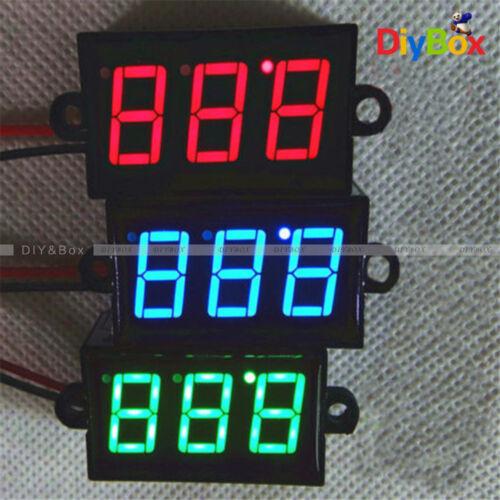 """0.56/"""" inch DC 3.5-30V Waterproof RGB LED Voltmeter Volt Meter Panel Mount"""