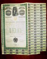 Banco de Londres y Mexico  100 Pesos share 1905