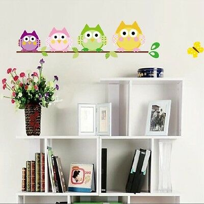 Owl Cartoon DIY Art Wall Decal Decor Room Stickers Vinyl Home Mural Paper
