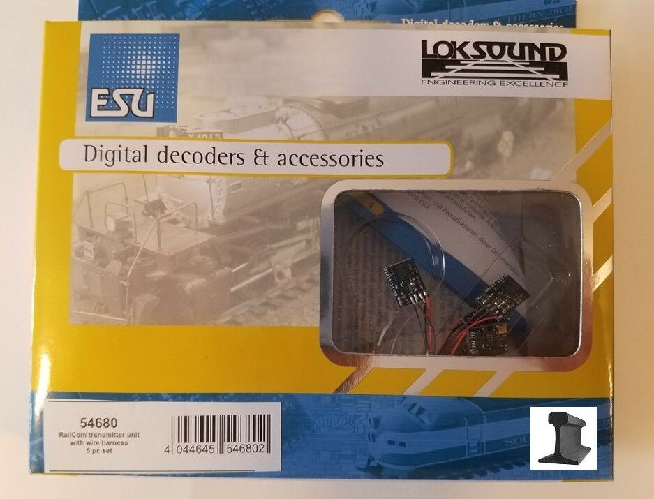 ESU 54680 2019 RailCom® Transmitter Unit  With  Wire Harness  5 Pieces  nuovo    online economico
