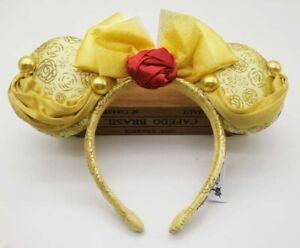Belle Mouse Ears,Belle Mouse Ears,Mickey headband,Minnie Mouse Ears,Mickey Ears,Custom Ears,Belle Headband,Beauty and the Beast Ears