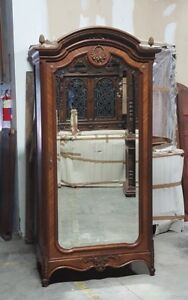 Exceptionnel Details About Antique French Louis XVI Style Single Door Armoire Wardrobe
