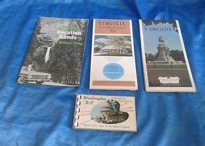 Vintage Travel Brochure Virgina Civil War National Parks Washington DC Photo Map