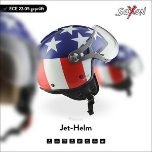 Moto-Vespa-Casque-Demi-Jet-Scooter-Pilote-Urban-SOXON-SP-325-USA-XS-S-M-L-XL