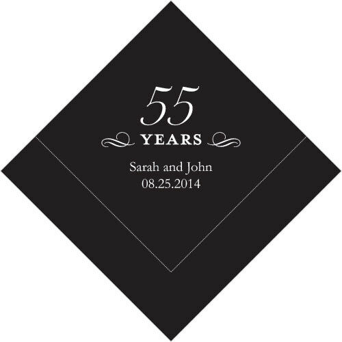 500 Printed 55th Anniversary Birthday Luncheon Napkins