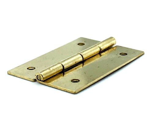 536 Dolls House Hinges Brass Plated Small 25 mm Jewellery Box Hinge