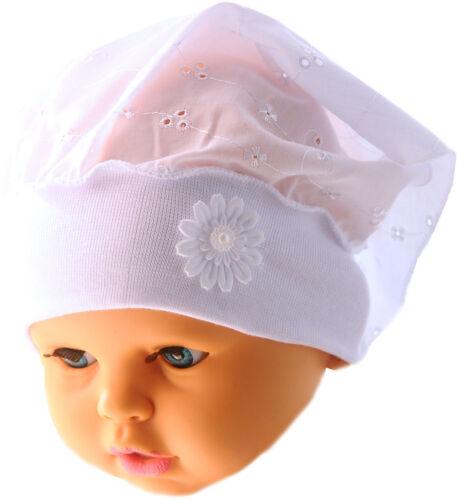 Kopftuch Baby /& Kinder Sommer Mütze Stirnband Mützchen Kopfbedeckung Neu Taufe