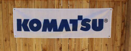 New Komatsu Banner Flag Heavy Equipment Machinery Tools Earth Mover Construction