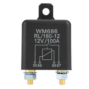 12V-100A-Normale-Aperto-Rele-RELE-universale-AUTO-Car-battery-control-Relay