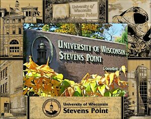 University Of Wisconsin Stevens Point Laser Engraved Wood Picture Frame 5 X 7 Ebay