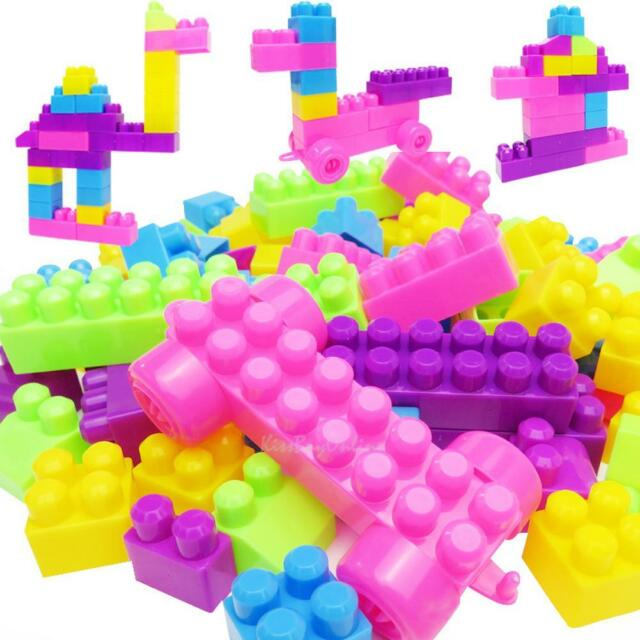 46pcs Colorful Plastic Building Blocks Bricks Child Kids Educational Puzzle Toy