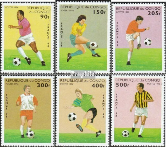 Congo (Brazzaville) 1444-1449 unmounted mint / never hinged 1996 Football-WM 199