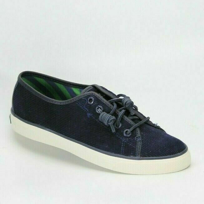 SPERRY Top Sider Seacoast Corduroy Womens Boat Shoe Navy Size 8.5 NEW AUTHENTIC