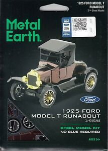 Fascinations Metal Earth 1925 Ford Model T Runabout Laser Cut 3D MMS207