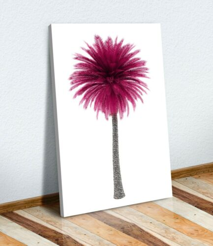 CANVAS WALL ART PRINT ARTWORK 30MM DEEP FRAME  Pink Black and white Palm Tree