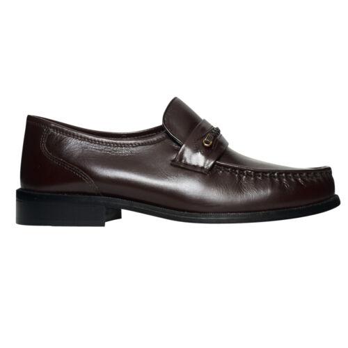 Lucini cuir véritable homme slip on casual formel bureau usure chaussures
