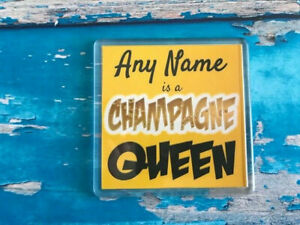 Champagne-Queen-Personalised-Coaster-Drink-Coaster-Add-Name