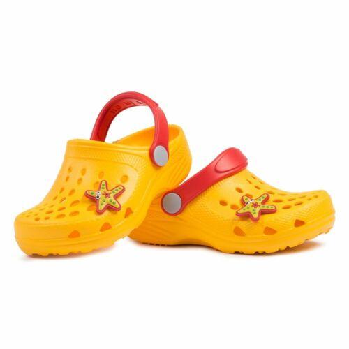 Eva Légères Enfants Sabots Pantoufles Sandales Pantoufles Filles Garçons Clog jaune