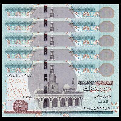 Egypt 5 Pounds p-63c 2014 UNC Banknote