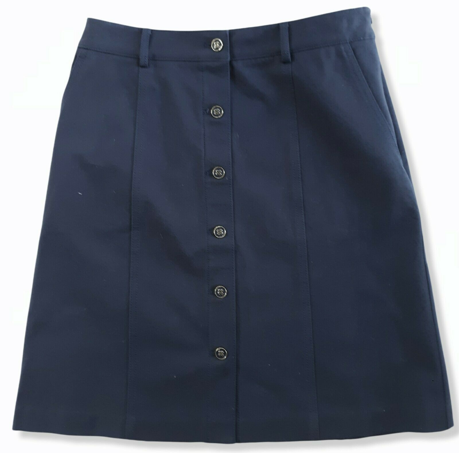 J McLaughlin Teal Button Front A Line Skirt Size 2 - image 1