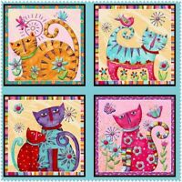 Cool Cats By Debi Hron For Henry Glass -- Multi Panel