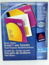 Avery Inkjet Jewel Case Dual Purpose Inserts Or Booklets Matte White