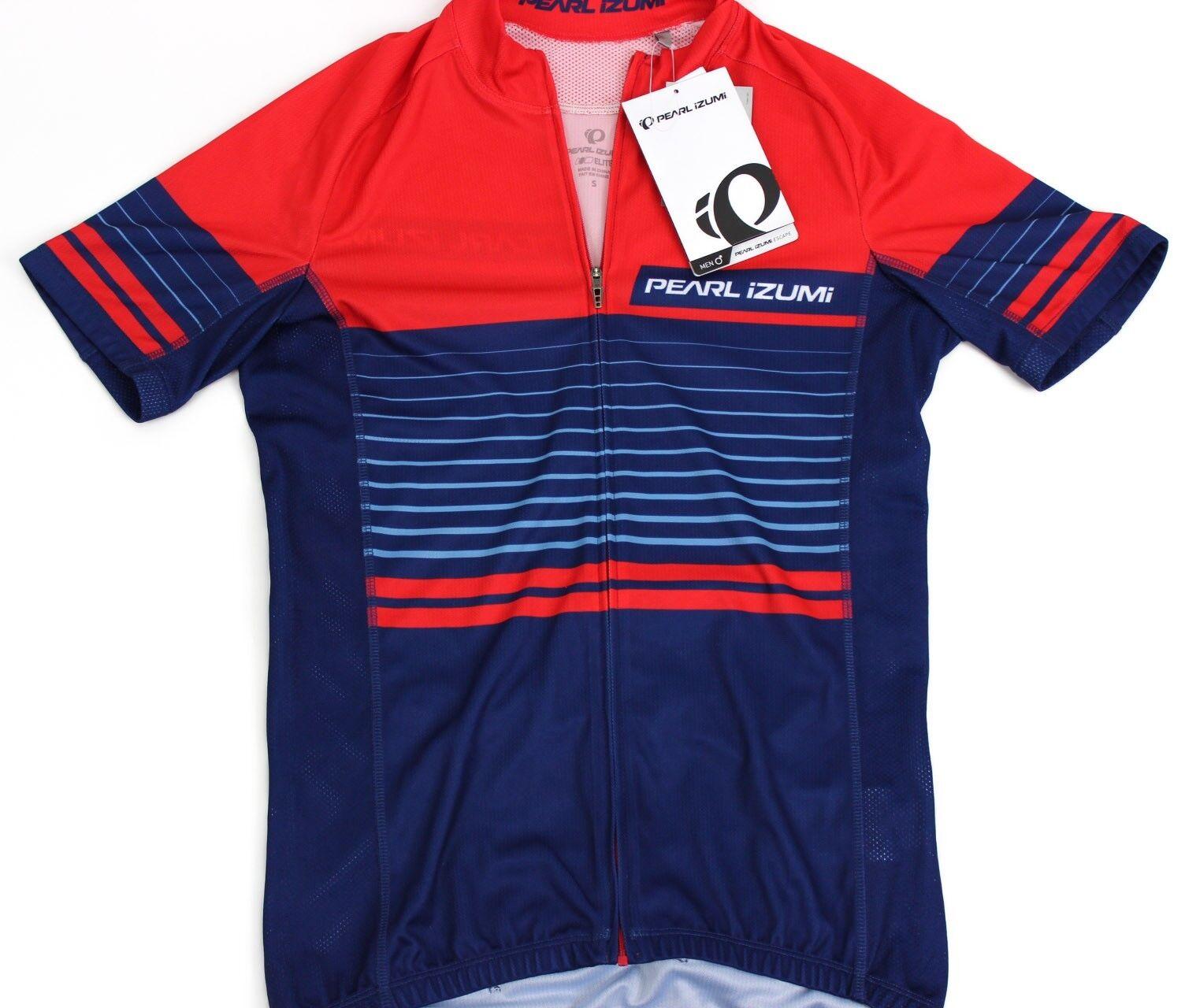 Pearl Izumi - Ride Men's Elite Escape Form Fit Jersey, Linear Red Dusk, Large