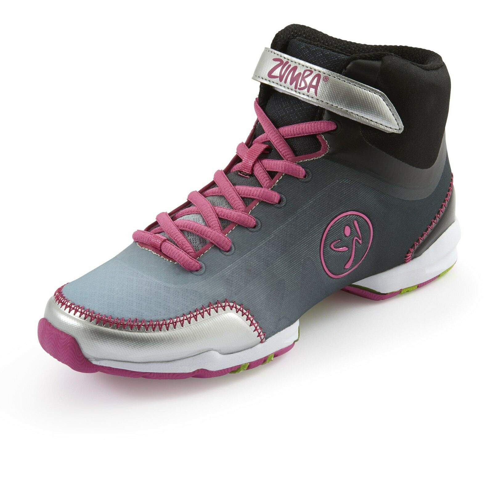 ZUMBA HIGH TOP SHOES TRAINERS--Z Slide lets U Dance 6,7,7.5,8,8.5,9 ANY Surface 6,7,7.5,8,8.5,9 Dance 4a4399