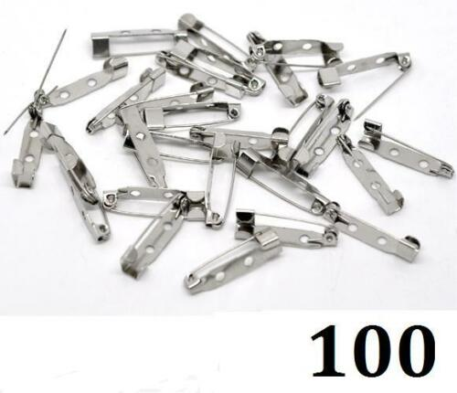 10 20 30 50 100 Brooch Bar Backs Safety Pins Catch Findings Small 25mm 2.5cm
