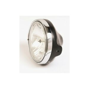 Headlight-Motorbike-Glass-Smooth-Ltd-Style-Black-200MM