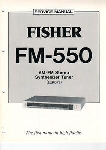 PräZise Fisher Service Manual Schaltplan Für Tuner Fm-550 B6930 Um Das KöRpergewicht Zu Reduzieren Und Das Leben Zu VerläNgern