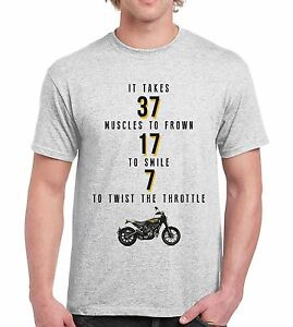 7 Muscles to twist Throttle Mens Funny Motorcycle T SHIRT Vintage ...