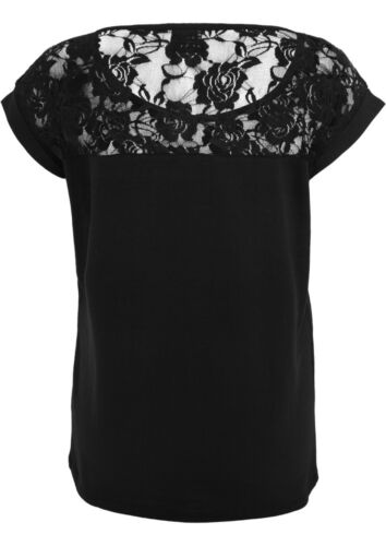 Ladies Top Laces Tee Girl-Shirt schwarz Urban Classics