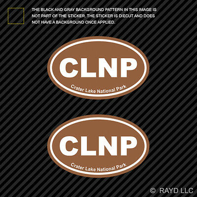 Crater Lake National Park Brown Oval Sticker Self Adhesive Vinyl Euro CLNP
