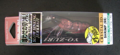 "lure Yo-Zuri F987-HRS Crystal 3D Shrimp Holographic Red Shrimp 2 3//4/""  1//4 oz"