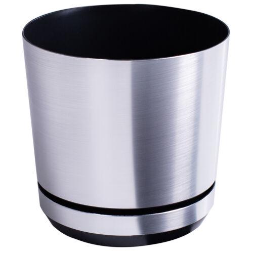 Modern in Plastica Fiore Vaso Fioriera decorativi in alluminio per interni con piattino