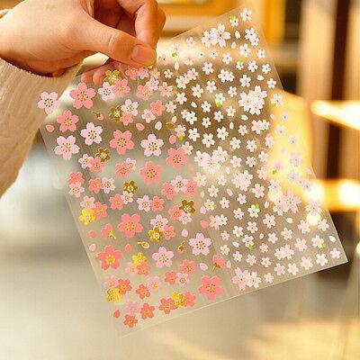 1X Cherry Blossom Stickers Sakura Flower Floral Craft Scrapbook Card Pop·