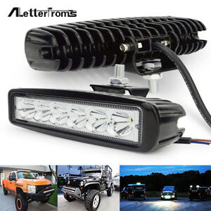 6LED Bright Light Spot Work Bar Driving Fog Offroad Car Lamp 18W 800LM For Truck