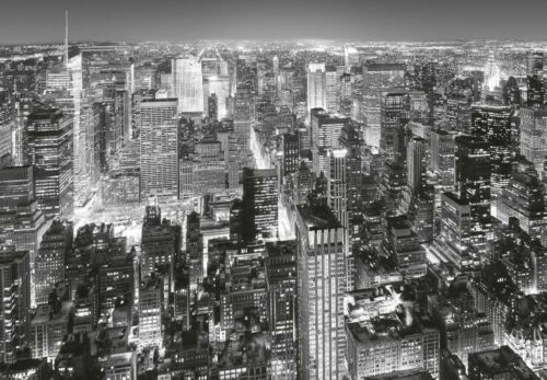 368x254cm New York Poster Tapete Skyline Bei Nacht #49809