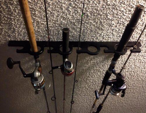 9 Fishing Rod Pole Reel OFFSHORE Holder Garage Ceiling Wall Mount Rack Organizer