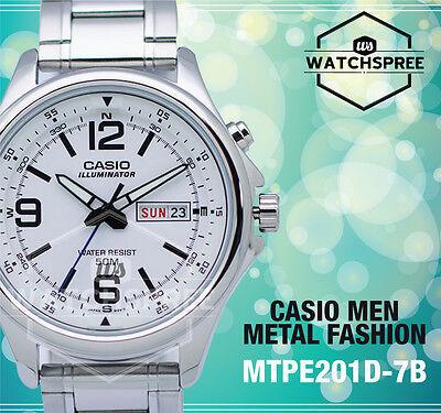 Casio Classic Series Men's Analog Watch MTPE201D-7B MTP-E201D-7B