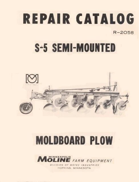 s l640 minneapolis moline s 5 semi mounted plow parts manual ebay