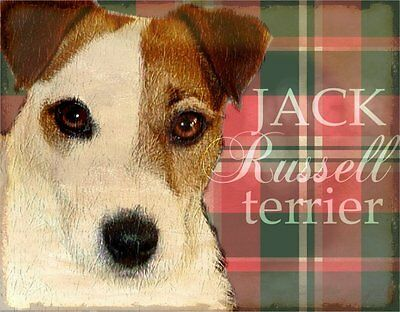 JACK RUSSELL TERRIER  Dog Print Poster-Vintage Look Art by Wendy Presseisen