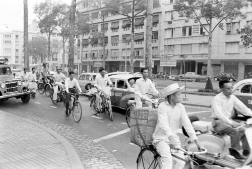 Saigon Photo Street Traffic 1961 Vietnam