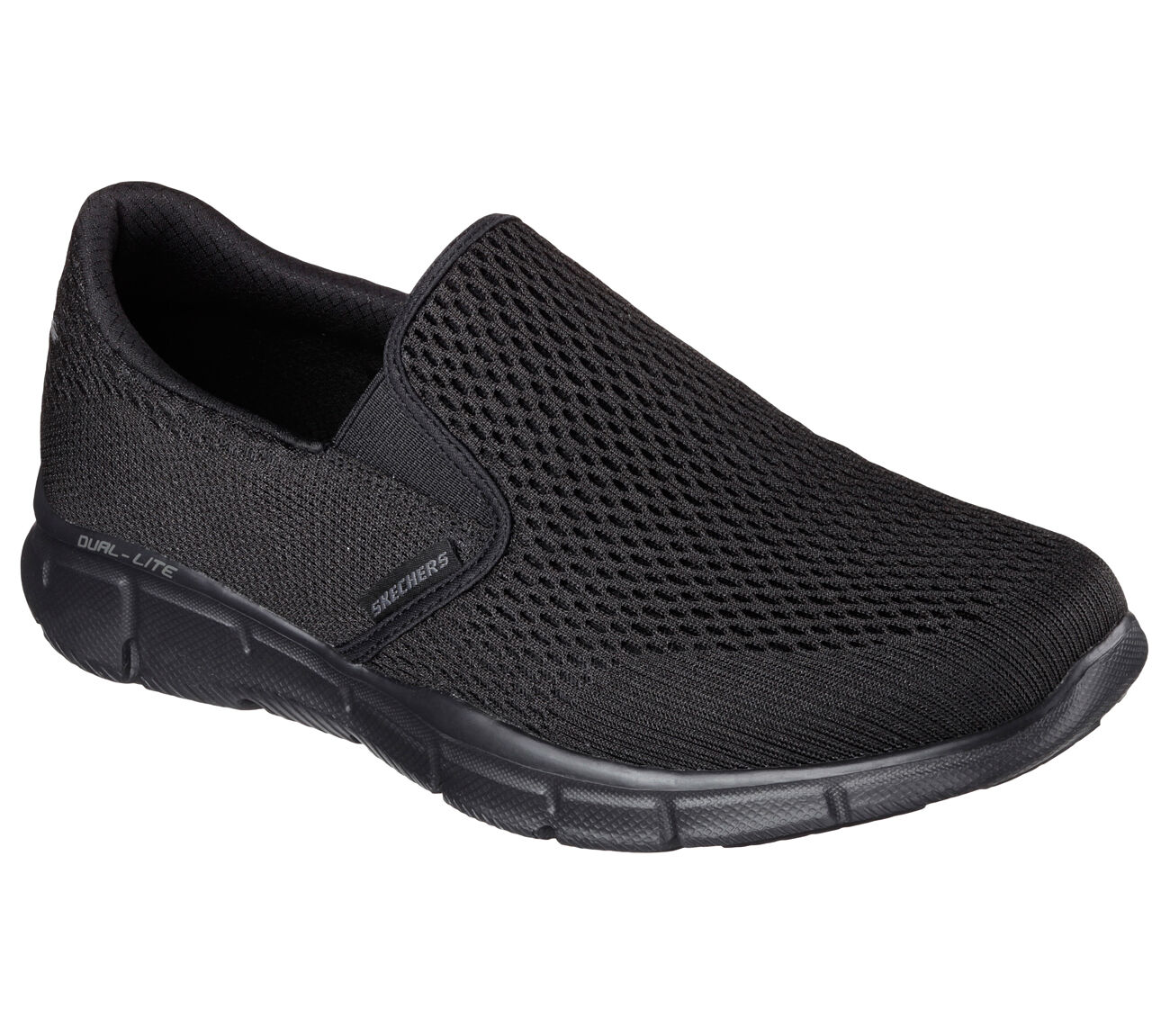 51509 W Wide Fit Black Skechers shoes Men Gel Memory Foam Comfort Slip On Casual
