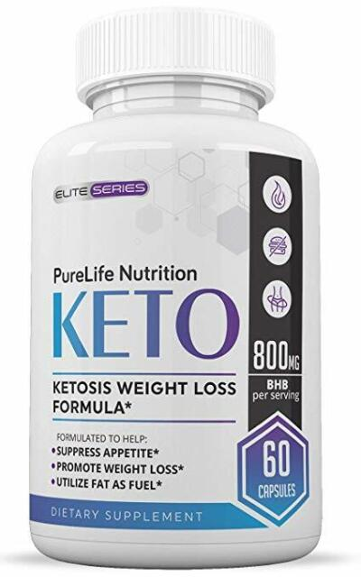 800mg Purelife Keto Diet Weight Loss Fat Burner Pills Strength Unisex Recipes