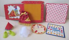 Barbie KELLY SHELLY CLUB CLOTHES/SHOES Pizza Time Chelsea Dress Food Lot, New